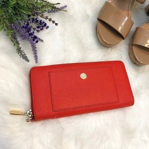 MICHAEL Kors Orange Zip Around Wallet